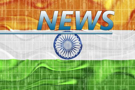 News information splash Flag of India, national country symbol illustration wavy Stock Illustration - 6712281