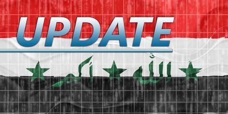breaking wave: News information splash Flag of Iraq, national country symbol illustration wavy