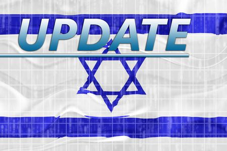 newsflash: News information splash Flag of Israel, national country symbol illustration wavy Stock Photo