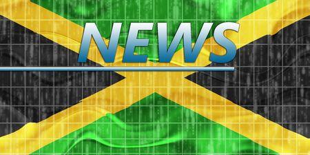 News information splash Flag of Jamaica, national country symbol illustration wavy Stock Illustration - 6705691