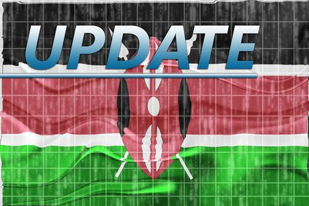 newsflash: News information splash Flag of Kenya, national country symbol illustration wavy
