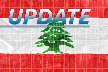 newsflash: News information splash Flag of Lebanon, national country symbol illustration wavy
