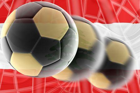 Flag of Lebanon, national country symbol illustration wavy sports soccer football Stock Illustration - 6712136