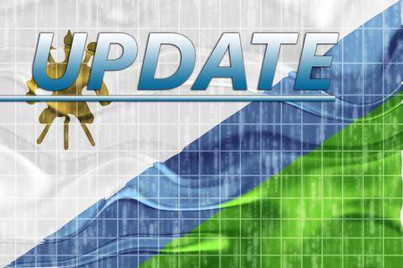 News information splash Flag of Lesotho, national country symbol illustration wavy illustration