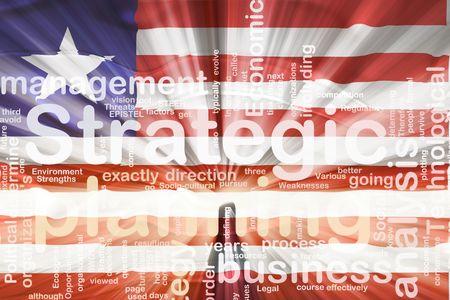 Flag of Liberia, national country symbol illustration wavy business strategic planning illustration