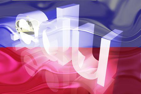 edu: Flag of Lichenstein, national country symbol illustration wavy edu education website Stock Photo