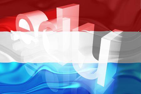 edu: Flag of Luxenbourg, national country symbol illustration wavy edu education website