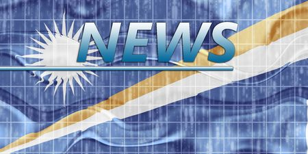 newsflash: News information splash Flag of Marshall Islands, national country symbol illustration wavy
