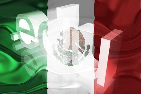 edu: Flag of Mexico, national country symbol illustration wavy edu education website