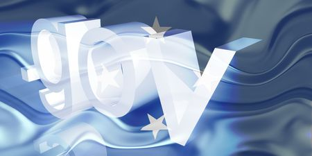 gov: Flag of Micronesia, national country symbol illustration wavy gov government website