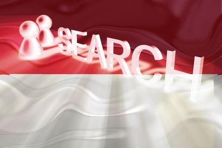 Flag of Monaco, national country symbol illustration wavy internet search technology illustration