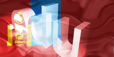 edu: Flag of Mongolia, national country symbol illustration wavy edu education website