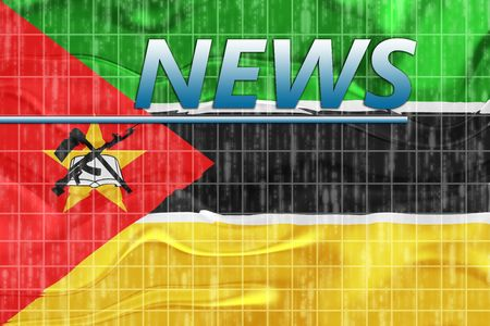News information splash Flag of Mozambique, national country symbol illustration wavy Stock Illustration - 6712191