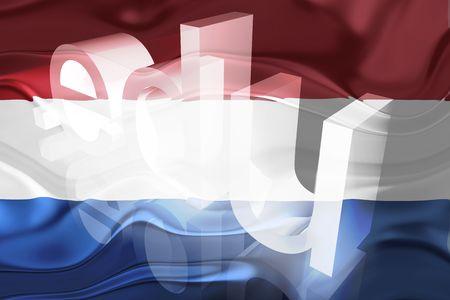 edu: Flag of Netherlands, national country symbol illustration wavy edu education website