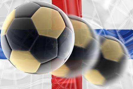 antilles: Flag ofNetherland Antilles, national country symbol illustration wavy sports soccer football Stock Photo