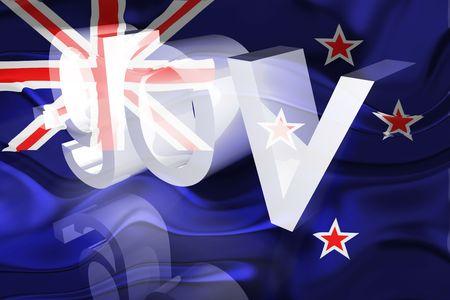 gov: Flag of New Zealand, national country symbol illustration wavy gov government website