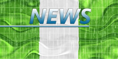News information splash Flag of Nigeria, national country symbol illustration wavy Stock Illustration - 6706446