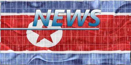 News information splash Flag of North Korea, national country symbol illustration wavy Stock Illustration - 6711636