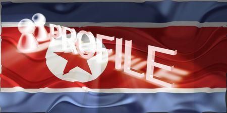 Flag of North Korea, national country symbol illustration wavy internet information profile Stock Illustration - 6706690