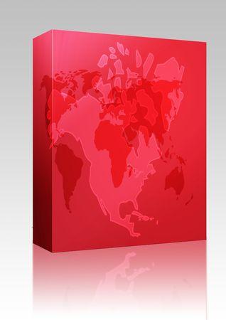 continente americano: Cuadro de paquete de software de mapa del continente americano, Estados Unidos Canad� M�xico