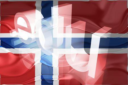 edu: Flag of Norway, national country symbol illustration wavy edu education website