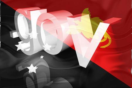 gov: Flag of Papua New Guinea, national country symbol illustration wavy gov government website