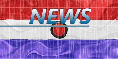 breaking wave: News information splash Flag of Paraguay, national country symbol illustration wavy