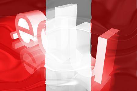 edu: Flag of Peru, national country symbol illustration wavy edu education website
