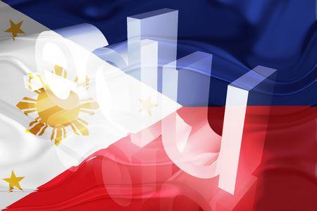 edu: Flag of Philippines, national country symbol illustration wavy edu education website