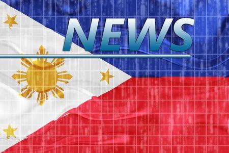 News information splash Flag of Philippines, national country symbol illustration wavy Stock Illustration - 6706642
