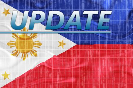 breaking wave: News information splash Flag of Philippines, national country symbol illustration wavy