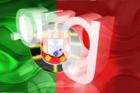 Flag of Portugal, national country symbol illustration wavy org organization website illustration