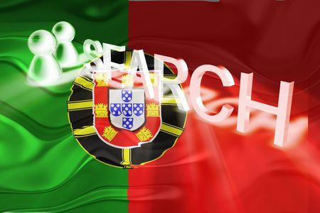 Flag of Portugal, national country symbol illustration wavy internet search technology illustration