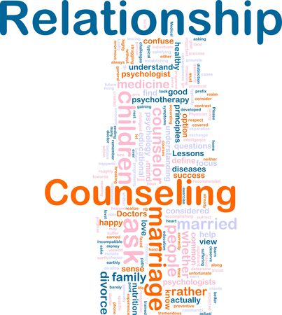 Word cloud concept illustration of  relationship counseling Stock Illustration - 6706701