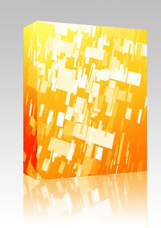 detonation: Software package box Abstract background illustration of shattered exploding geometric shapes