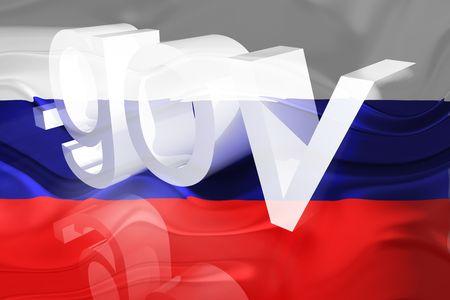 gov: Flag of Russia, national country symbol illustration wavy gov government website