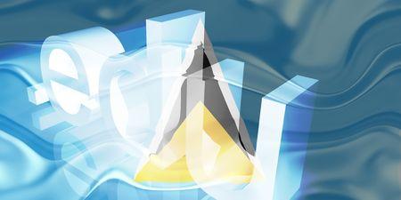 edu: Flag of Saint Lucia, national country symbol illustration wavy edu education website