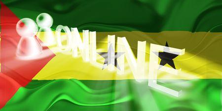 principe: Bandera de Santo Tom� y Pr�ncipe, pa�s nacional s�mbolo ilustraci�n ondulado Web en l�nea de internet