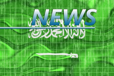 newsflash: News information splash Flag of Saudi Arabia, national country symbol illustration wavy