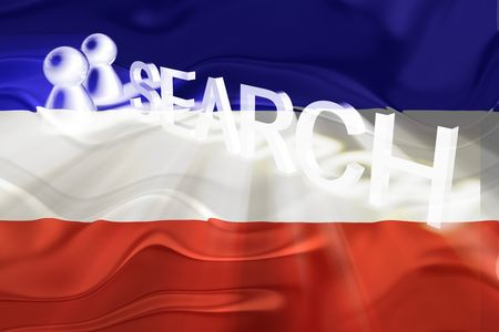 serbia and montenegro: Flag of Serbia and Montenegro, national country symbol illustration wavy internet search technology