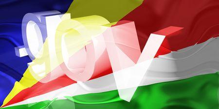 gov: Flag of Seychelles, national country symbol illustration wavy gov government website