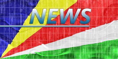 News information splash Flag of Seychelles, national country symbol illustration wavy Stock Illustration - 6706494