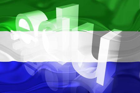 edu: Flag of Sierra Leone, national country symbol illustration wavy edu education website