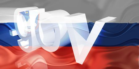 gov: Flag of Slovenia, national country symbol illustration wavy gov government website