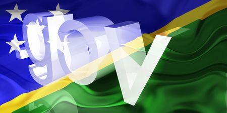 gov: Flag of Solomon Islands, national country symbol illustration wavy gov government website Stock Photo