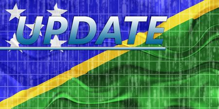newsflash: News information splash Flag of Solomon Islands, national country symbol illustration wavy Stock Photo