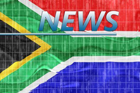 News information splash Flag of South Africa, national country symbol illustration wavy