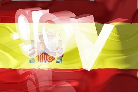 gov: Flag of Spain, national country symbol illustration wavy gov government website