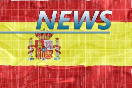 breaking wave: News information splash Flag of Spain, national country symbol illustration wavy