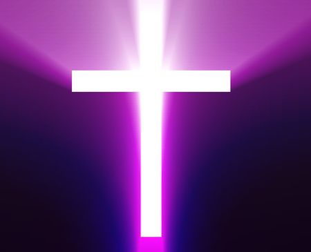 veneration: Christian church cross, religious spiritual symbol illustration